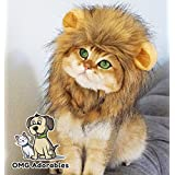 OMG Adorables Lion Mane Costume Cats | Soft, Furry Pet Wig Cute Ears | Fits Adult Felines Small Dogs | Pet Friendly Clothing Accessories | Holiday Gift
