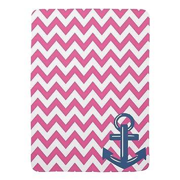 Amazon Zazzle Pink And White Chevron Anchor Throw Blanket Baby Custom Pink Chevron Throw Blanket