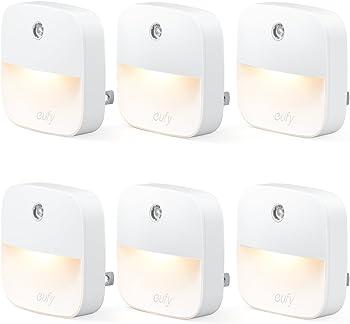 6-Pack eufy Lumi Dusk-to-Dawn Sensor Plug-in LED Nightlight