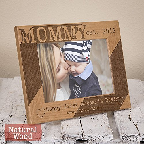 Mothers Day Gift - First Mothers Day - Personalized Mommy Picture Frame - Mom Gift - Mom Picture Frame