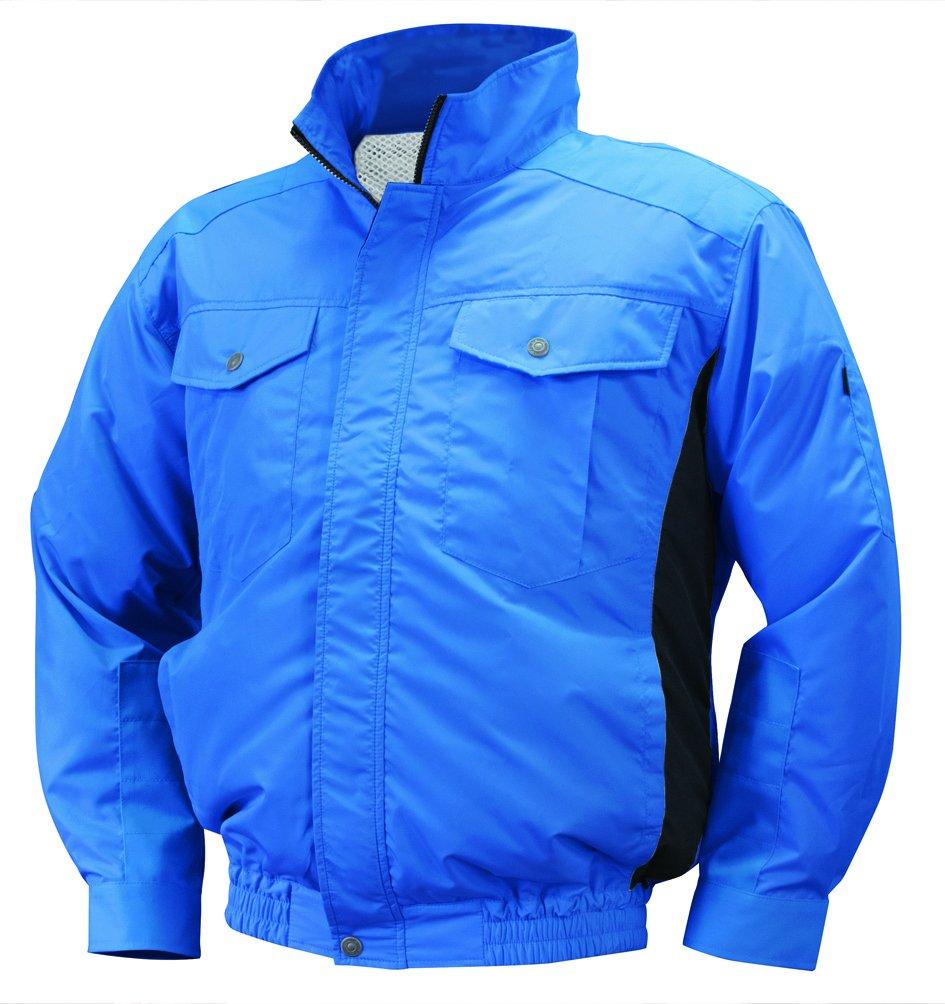 NSP 空調服 服単体 NA-111 ブルー/チャコール チタンコーティング 立ち襟 肩袖補強あり サイズ3L 8209455 B07BHKM885 3L 3L