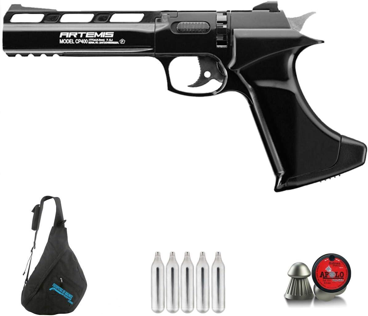 CP400 Artemis Pistola de Aire comprimido (CO2) de balines (perdigones) de Calibre 4.5mm semiautomática