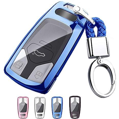 Amazon.com: Mofei - Carcasa protectora para llave de Audi ...