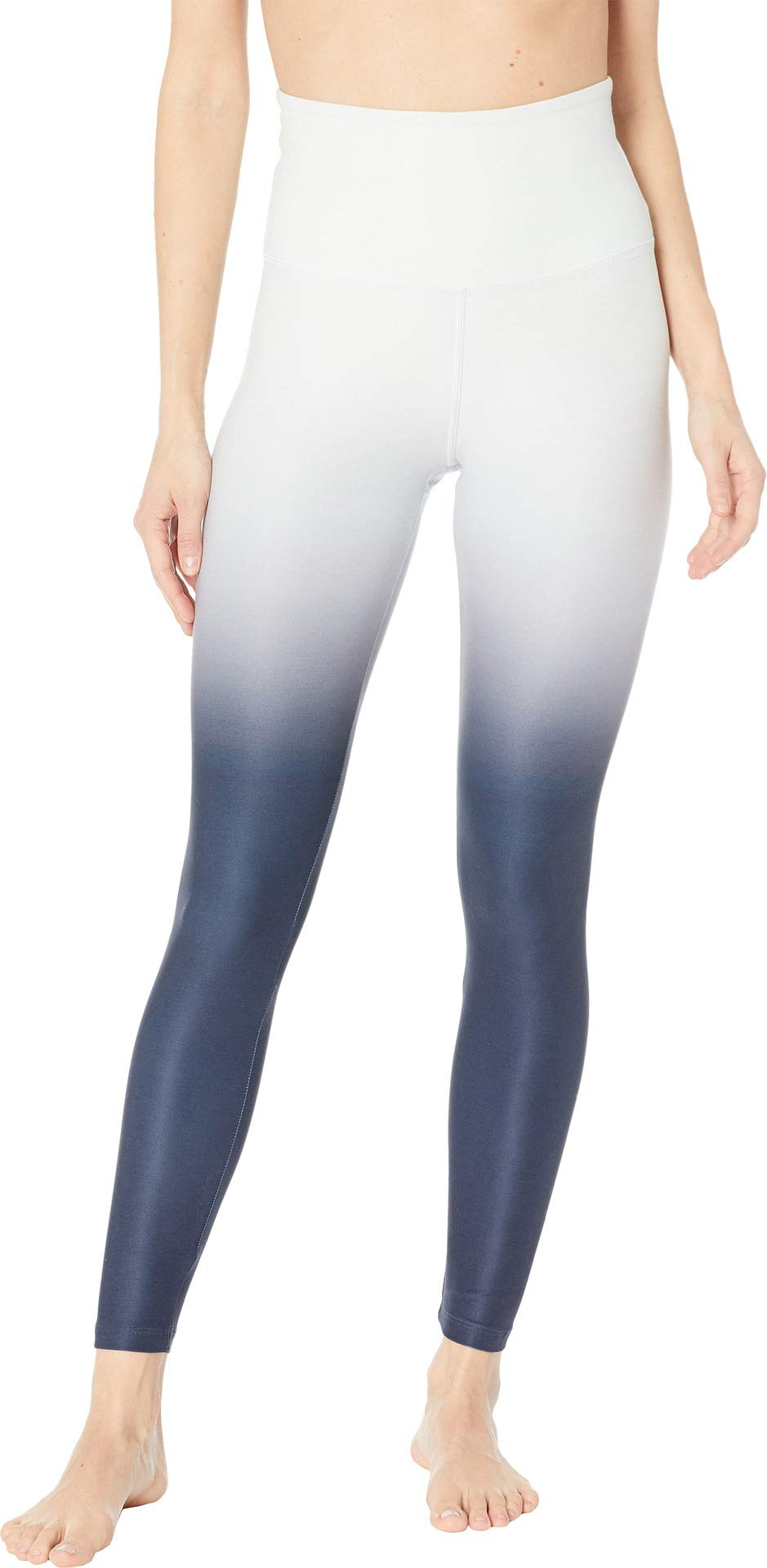 Beyond Yoga Spacedye High Waist Ombre Midi Legging, Glacier White Nocturnal Navy Ombre, X-Small