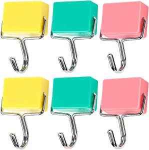 Purture® All-purpose Magnetic Hooks, Creative Magnetic Hooks, Super Strong Magnetic Hooks, Colorful Magnetic Hooks, Powerful Magnetic Hooks, Set of 6