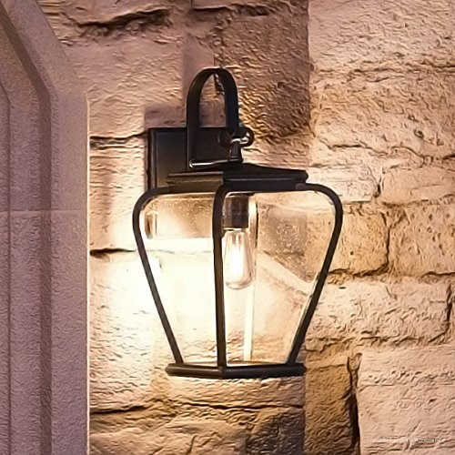 Luxury French Country Outdoor Wall Light, Medium Size: 15.5