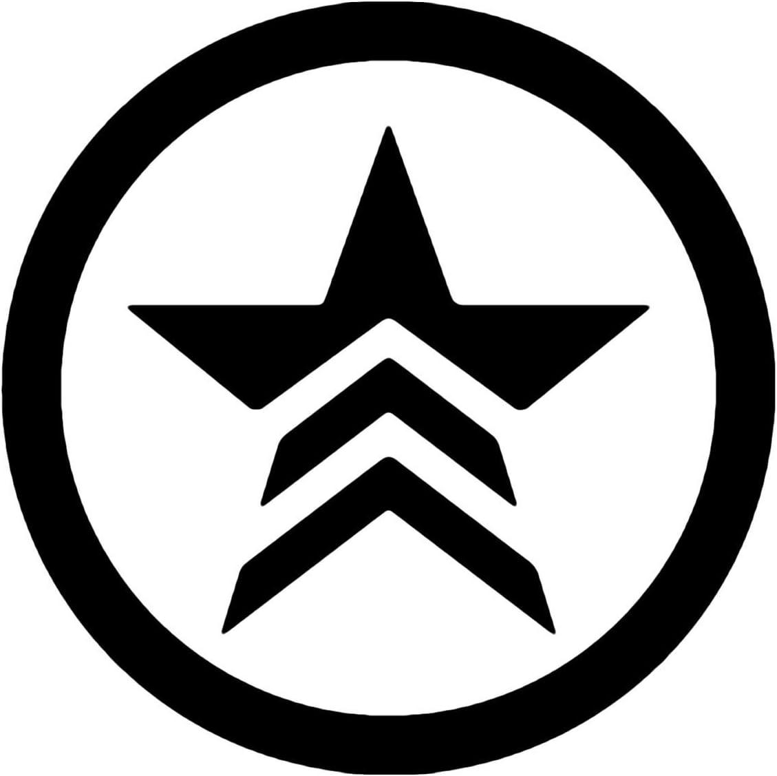 "Mass Effect 5.5"" Renegade Logo Decal Sticker for Cars Laptops Tablets Skateboard - Black"