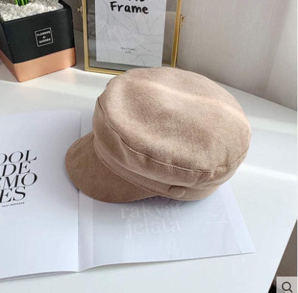 Button Flat Top Navy Hat...