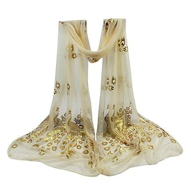 Echarpes et foulards Amlaiworld Femmes Multicolore Foulard fleur de paon  Longue écharpe châle enveloppante Pashmina Wrap 262a1b9ae45