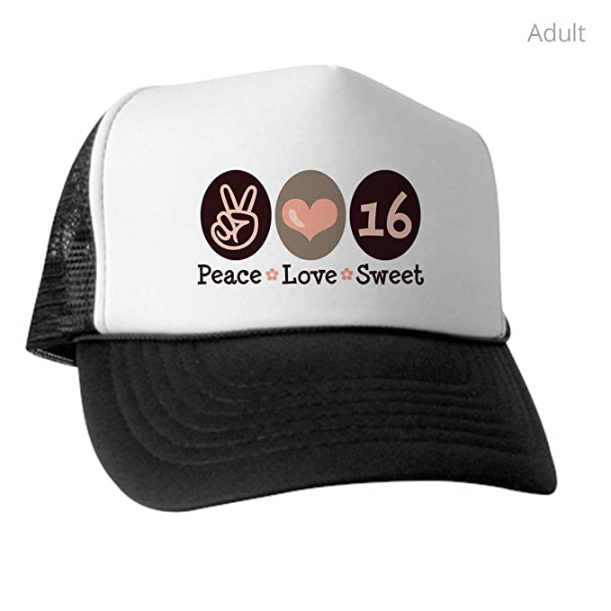 Amazon.com  CafePress - Peace Love Sweet Sixteen 16Th Birthday ... 016da94b1c4f