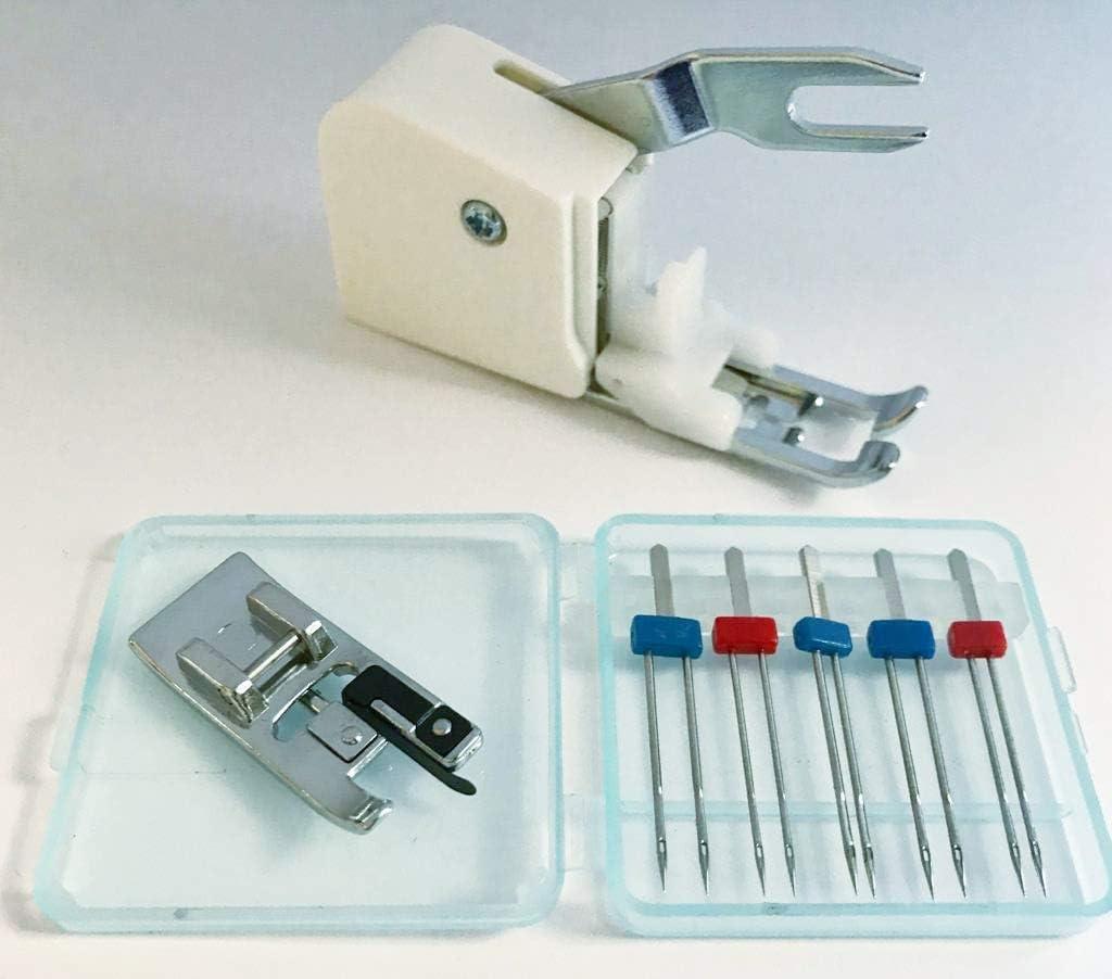 5 Zwilling agujas grosor 75 (2 mm, grosor de 3 mm) y 90 (2 mm, 3 ...