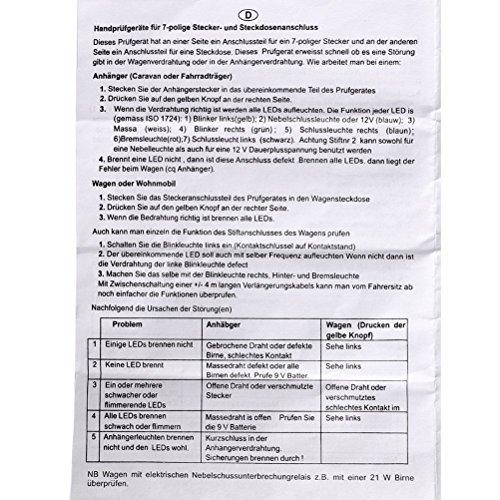 Tinksky Anhänger-Beleuchtungs Professional 7-polig: Amazon.de ...
