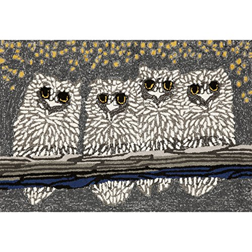 Liora Manne FT112A50947 Whimsy Night Bird Rug, Indoor/Outdoo