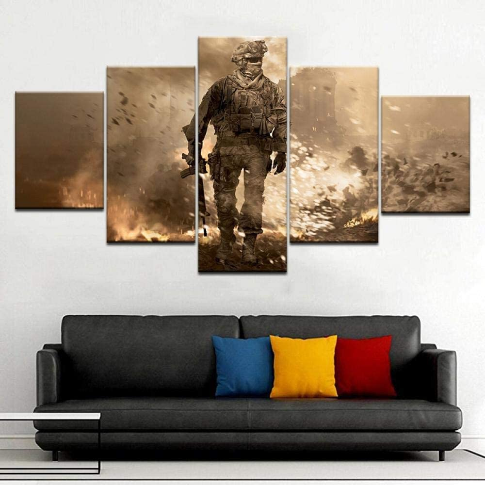Playstation Console Gaming Arena 5 Pcs Canvas Print Poster HOME DECOR Picture