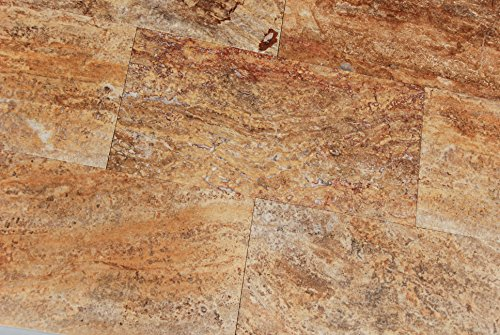 Cut Tile Flooring Tumbled - Scabos Travertine Vein Cut 12X24 Filled and Polished Tiles - Premium Quality (SAMPLE)