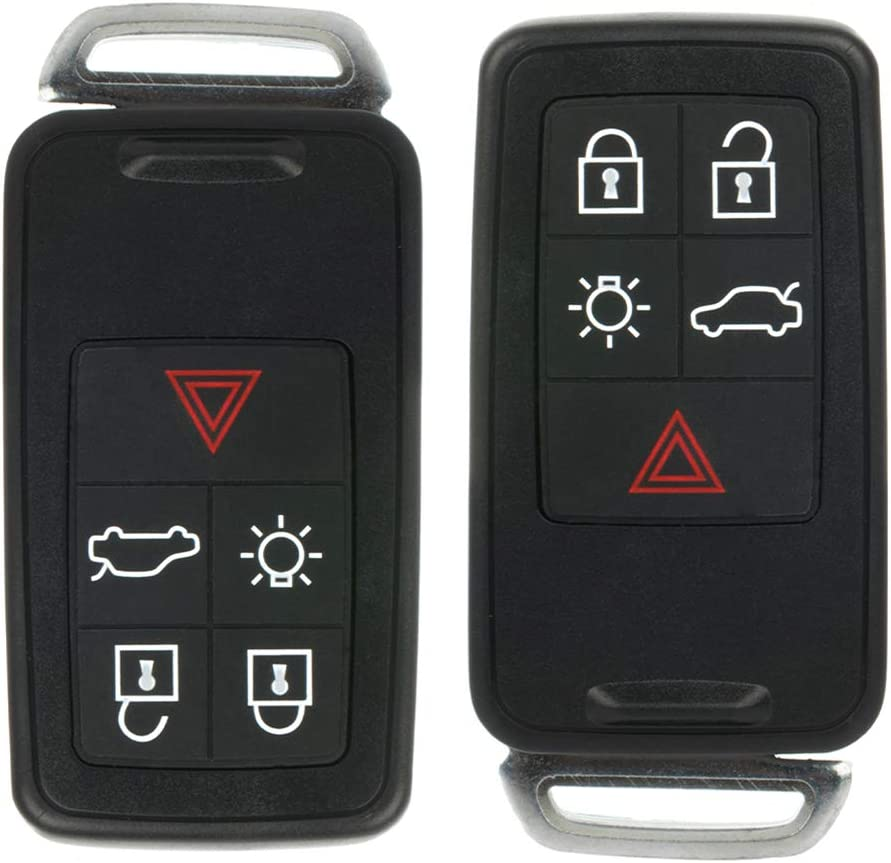 ANPART 2 X Remote Key Fob Uncut Ignition Key Compatible for 2008 2009 2010 2011 2012 2013 2014 2015 2016 2017 Volvo XC60 XC70 FCC ADP12513401S