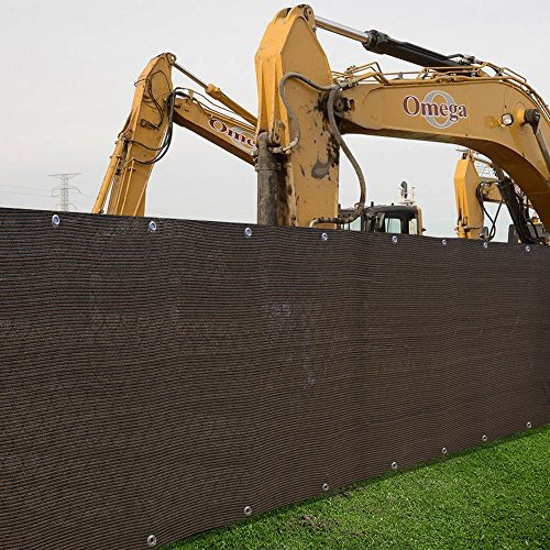 Alion Home HDPE Privacy Screen Windscreen Mesh Shade panel For Backyard Deck, Patio, Fence, Porch, Pool -180 GSM - Custom Size Available (4' x 10', Dark Brown)