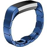 iHee - Banda de repuesto para FitBit Alta, correa de reloj en acero inoxidable, banda de muñeca para reloj inteligente Fitbit Alta