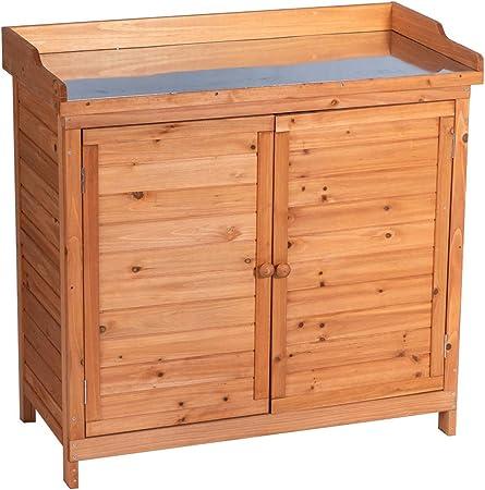 Amazon Com Good Life Outdoor Garden Patio Wooden Storage Cabinet