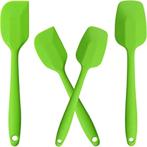 [NEW] YADEA Silicone Spatula, Heat Resistant Silicone Scraper-Spoon Set, BPA free Non-Stick Flexible Food-Grade Silicone, Rubber Spatula Set for Cooking, Backing, (Green)
