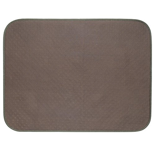 - InterDesign iDry Microfiber Shower and Bath Mat for Bathroom Floor - Large, Bronze