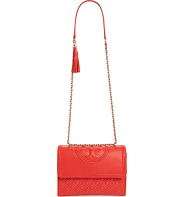 772ea2ac053 Tory Burch Fleming Convertible Shoulder Bag (Red Volcano Gold ...