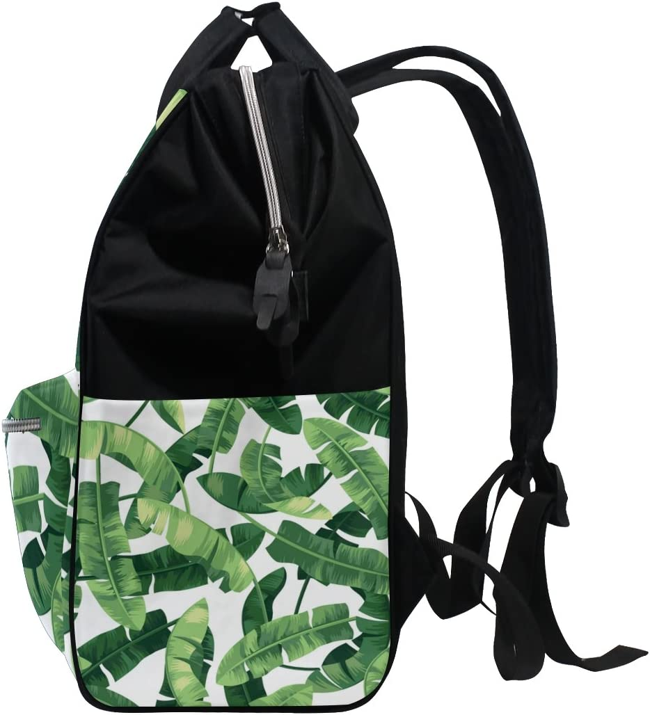 ALAZA Banana Leaf Bookbag Backpack Large Capacity Mummy Travel Nurse Bag