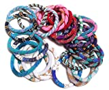 WigsPedia Dozen Handmade Nepal glass beaded bracelets Roll On Bracelet - multi color (set of 12)