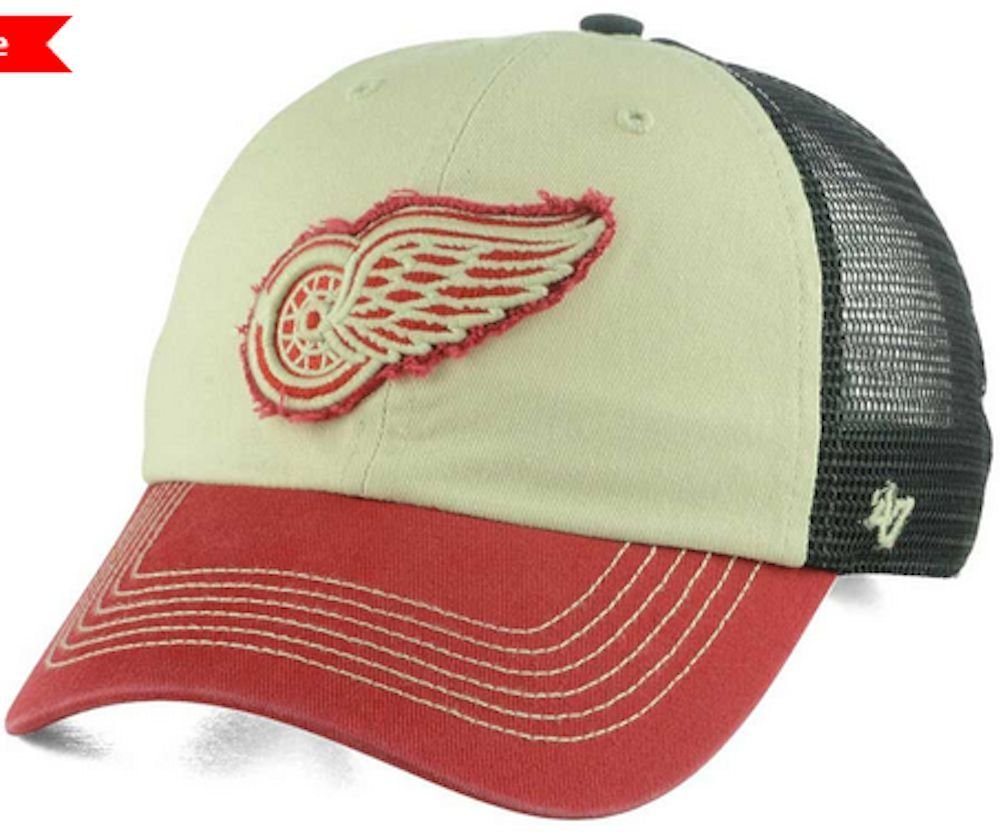 hot sale online 4dfc4 3e845  47 Brand NHL Detroit Red Wings Clean Up White Red Adjustable Hat Osfa   Amazon.ca  Sports   Outdoors