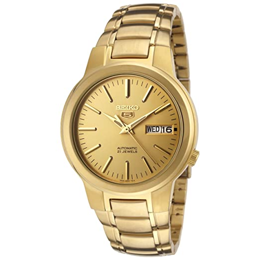 gold dp golden seiko steel men dial watches tone stainless watch s automatic