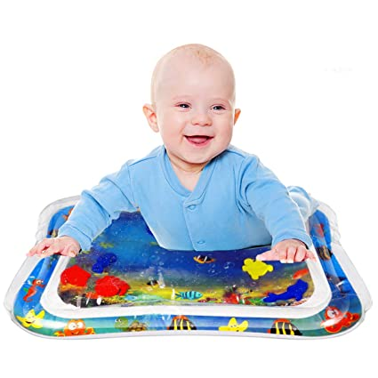 Amazon.com: Jishy Inflatable Tummy Time Mat for Infant and ...