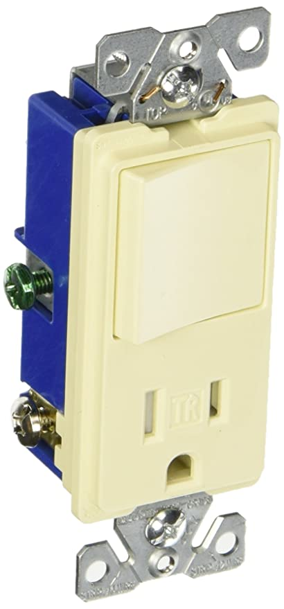 Eaton TR7730W 15-Amp 3-Wire TR Receptacle 120-Volt Decorator ...