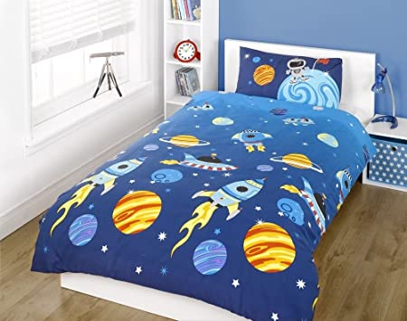 Rocket Toddler Bedding Spaceships Stars And Planets Amazon Co Uk