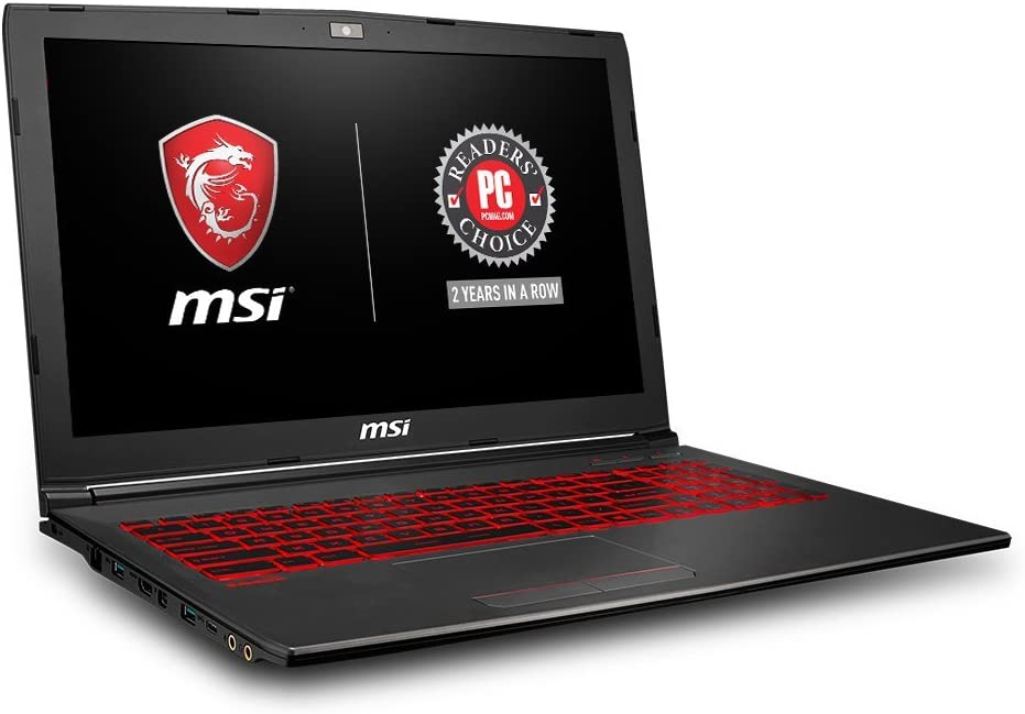 MSI GV62 8RD-200 15.6in Performance Gaming Laptop i5-8300H GTX 1050Ti 4G 8GB RAM 16GB Intel Optane Memory + 1TB HDD Win 10, Black (Renewed)