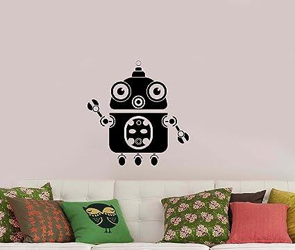 Amazon.com: Robot Wall Art Decal Robotic Funny Droid Vinyl Sticker ...