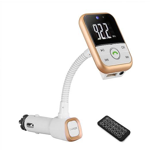 48 opinioni per Trasmettitore FM Bluetooth da Auto, YOKKAO Lettore MP3 da Auto con Telecomando