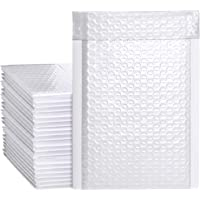 Metronic White Bubble Mailers 50 Pack, 4x8 Bubble Poly Mailers, Self-Seal Shipping Bags, Padded Envelopes, Bubble…