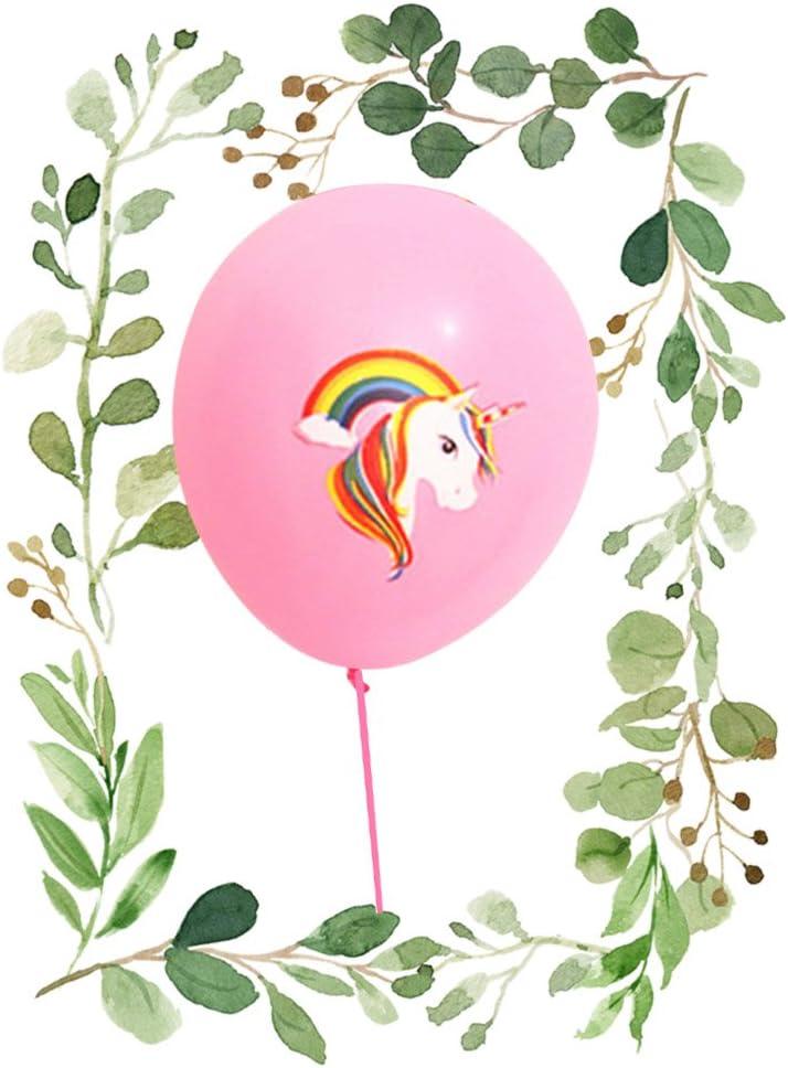 H01 Yovvin 5PCS Ballon Gonflable de Latex Licorne D/écoration de la Maison et Chambre D/écoration Anniversaire F/ête Enfant B/éb/é les gar/çons et les filles