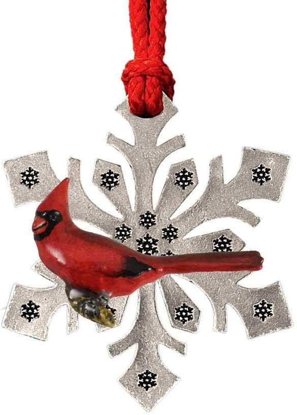 Cardinal Christmas Bird Ornaments,Hand Painted BP105SF, Topper, Decorative Birds, Made in America