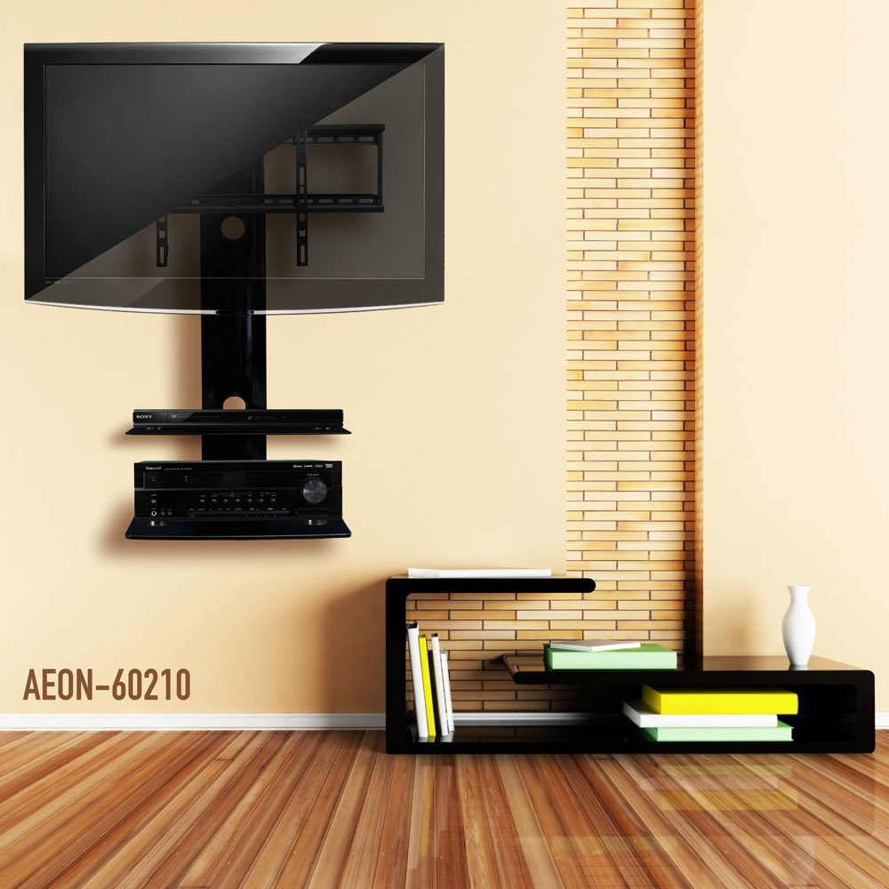 Amazon.com: Swiveling TV Wall Mount with Two Shelves (Shelf ...