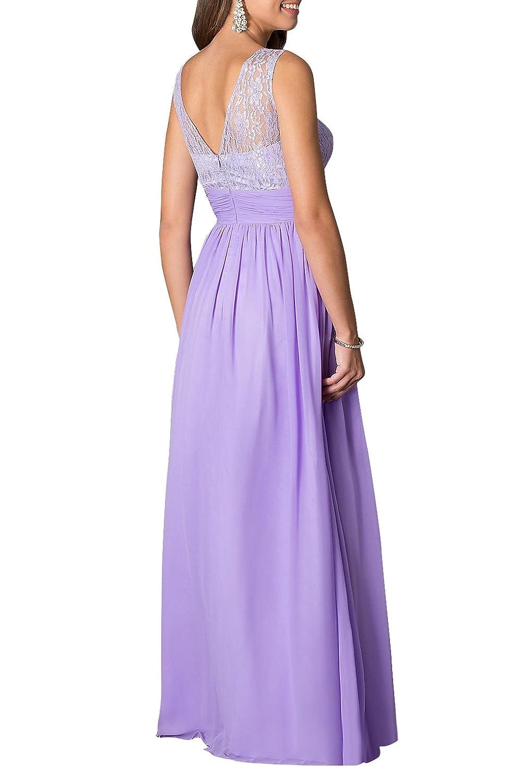 Amazon.com: LOVEBEAUTY Women\'s Long Sleeveless Chiffon Formal Prom ...