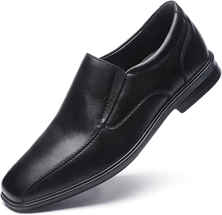 Mens Retro Shoes | Vintage Shoes & Boots Jivana Men's Classic Geniune Leather Oxford Dress Shoes Black $42.99 AT vintagedancer.com