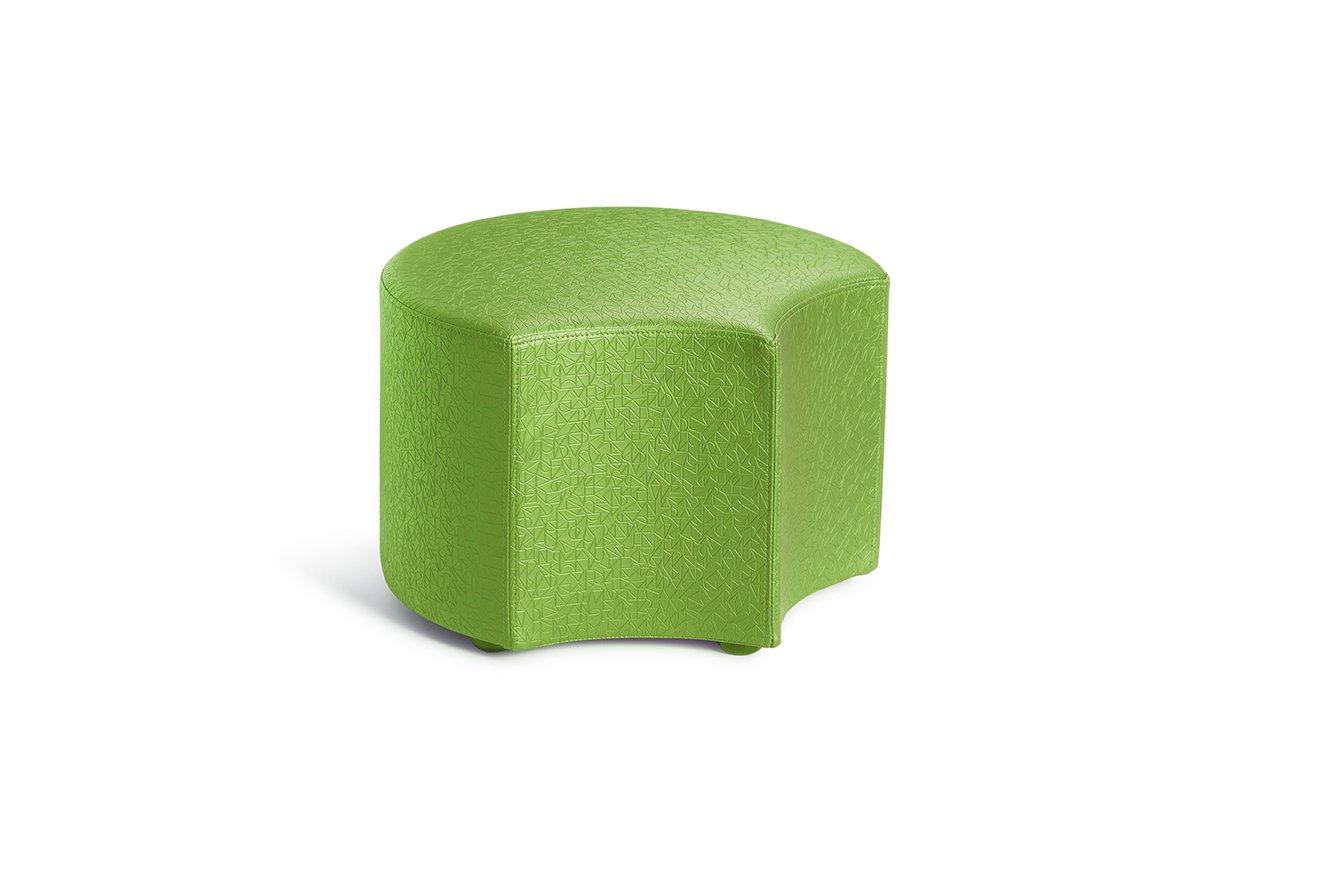 Logic Furniture MOONFCU06 Moon 4 Face Ottoman, 6'', Cucumber