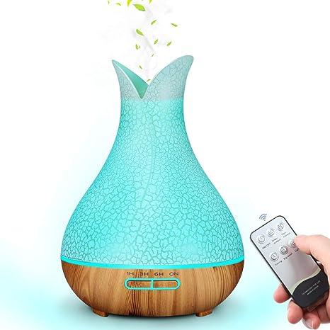 Fernbedinung LED mit 7 Farben Ultraschall Humidifier f/ür Schlafzimmer,Yoga,Salon MANLI Aroma Diffuser 500ml Luftbefeuchter mit Timer Aromatherapie Duftlampe Elektrisch /Öl Diffusor