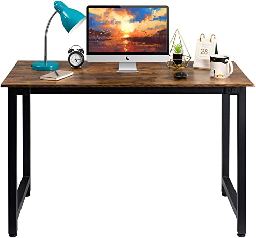 GAJOO Home Office Desk Table Modern Simple Style Computer Desk PC Laptop Notebook Study Writing Desk Wood and Metal Desk