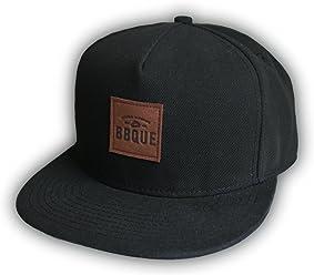 BBQUE Leather Patch Baseball Cap | Schirmmütze | Mütze | One Size | weitenregulierbar | unisex (für Herren und Frauen)