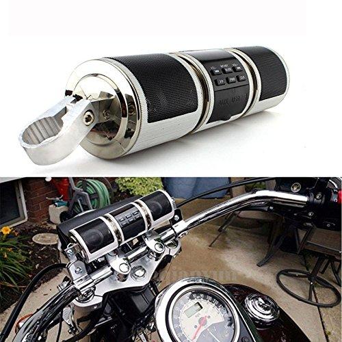 Altavoz de motocicleta Bluetooth V2.1 + EDREDR Reproductor de audio resistente al agua altavoz esté reo FM Radio AUX USB TF reproductor de MP3 sistema de sonido BEEAUTO