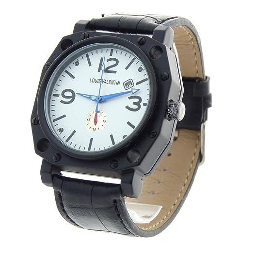 Louis Valentin Louis Valentin-LVN2 - Reloj color negro: Amazon.es: Relojes