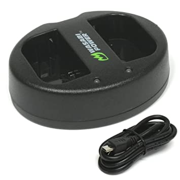 Amazon.com: Wasabi Power Dual USB Cargador de batería para ...