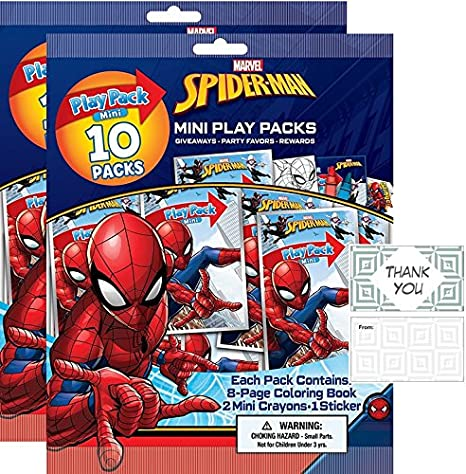 Amazon Com Spider Man 20 Mini Play Packs Party Favors Bundle With